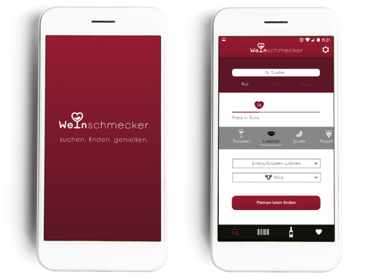 App Design Weinschmecker Bettina Meyer
